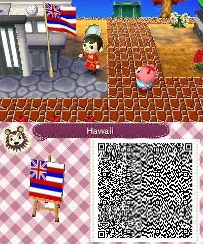 cute animal crossing qr codes flags