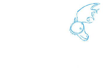 Bull moose head sketch by toothless512warrior