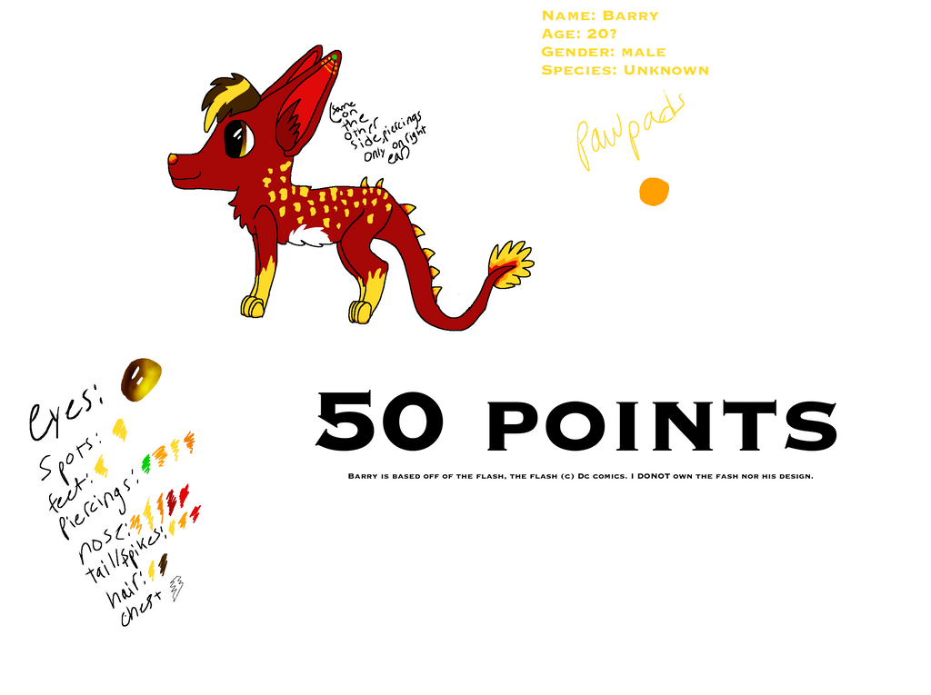 Fursona point auction package by toothless512warrior