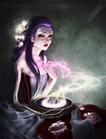 Art trade - Moon thief by kurimja