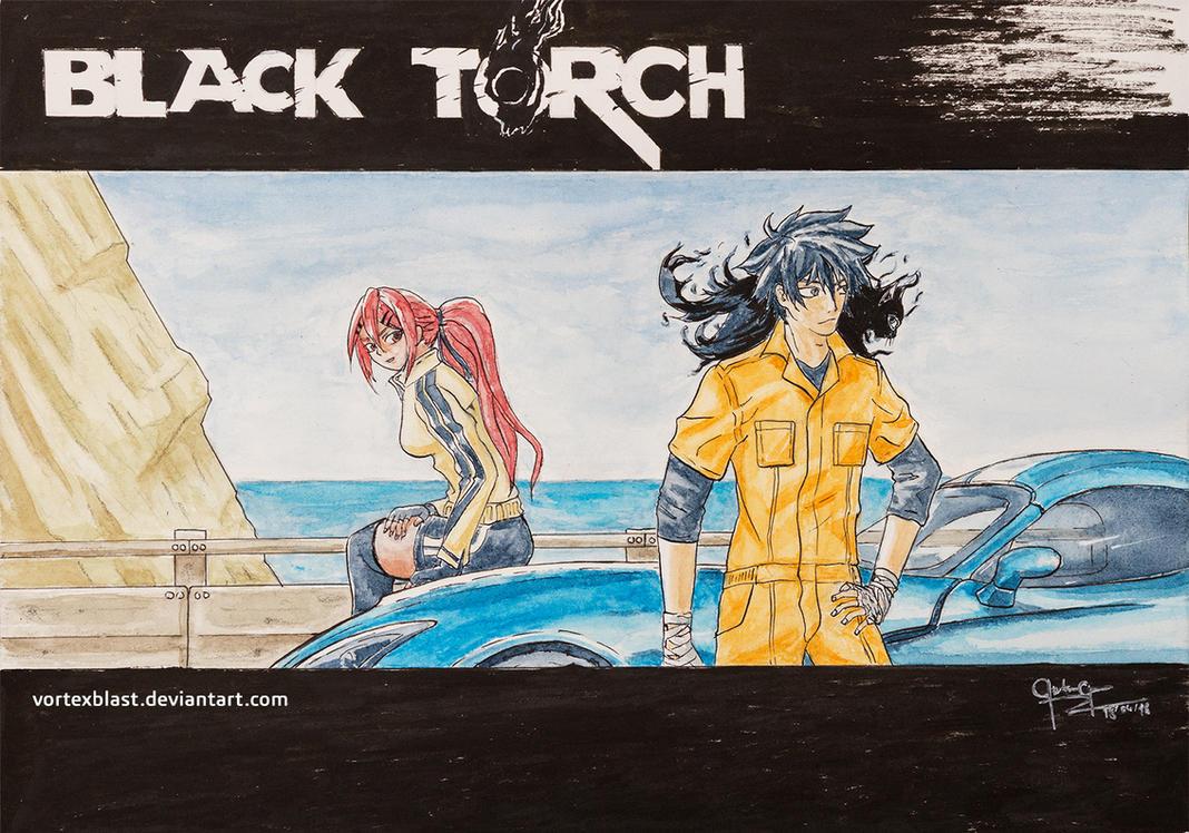 Black Torch Fan Art - Jiro and Ichika by VortexBlast