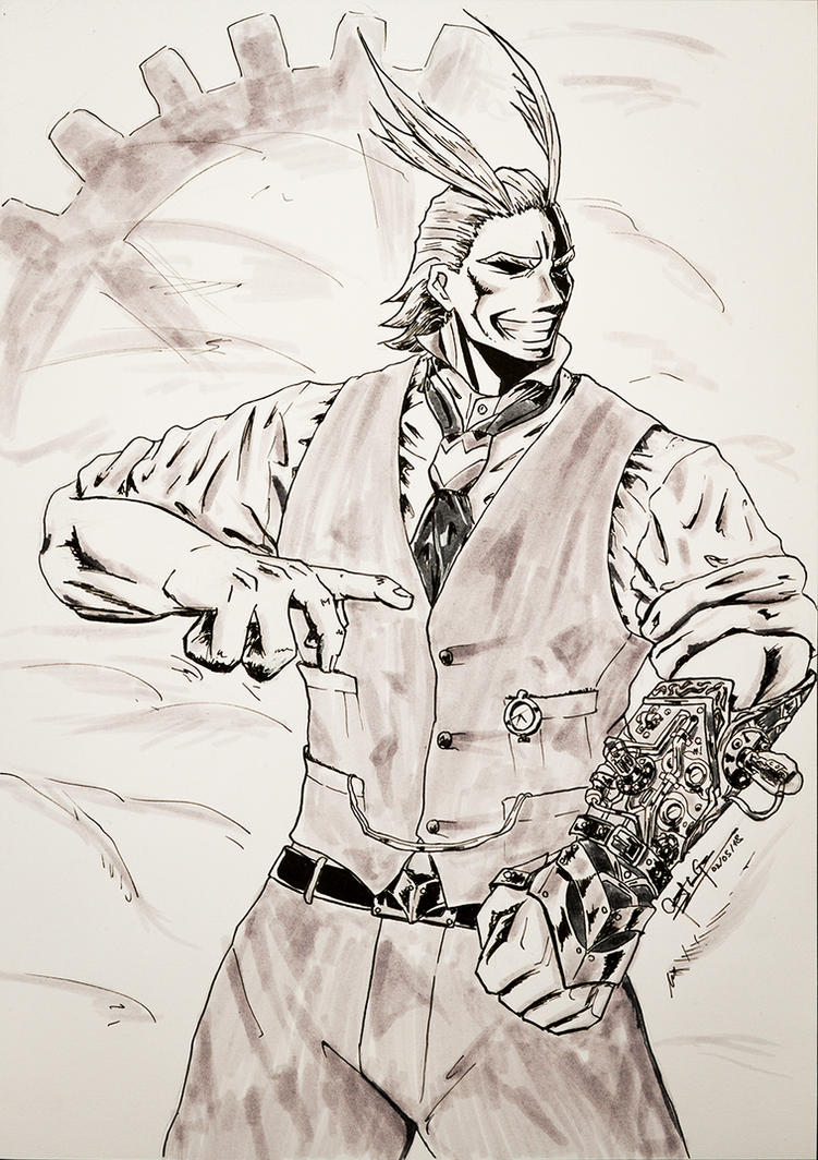 Steampunk All Might from MHA by VortexBlast
