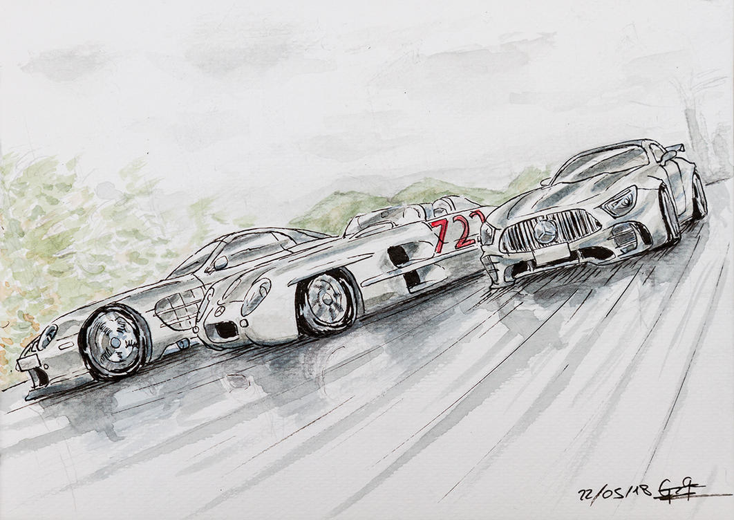 A generation of legendary Mercedes sportscars by VortexBlast