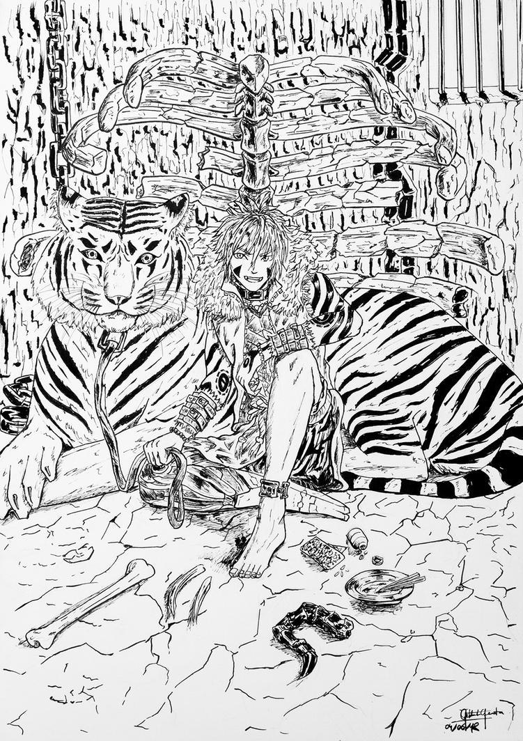 The Tiger Handler by VortexBlast