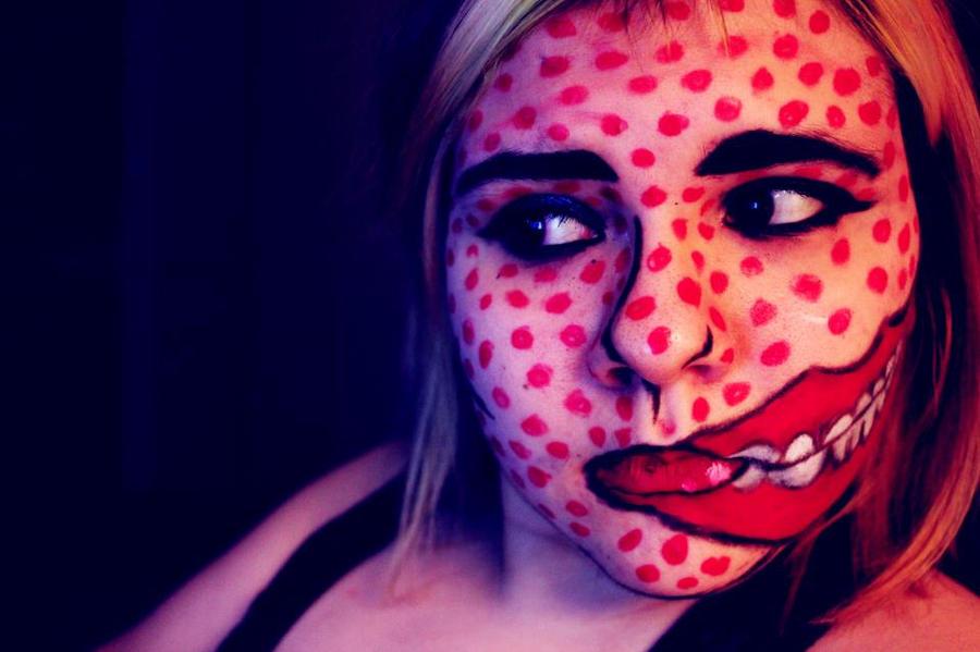 Pop art zombie by Smittywasnumber1Pop Art Zombie Makeup