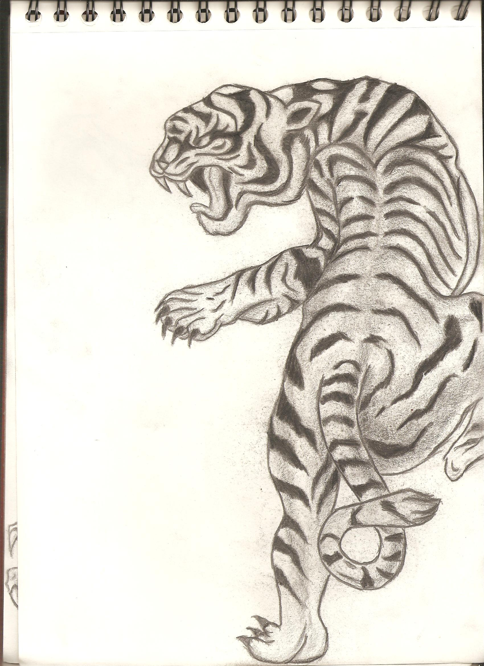 Classic japanese style tiger by DBZ-Fanatic1 on DeviantArt