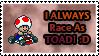 Mario Kart Toad Stamp by SuperTeeter64