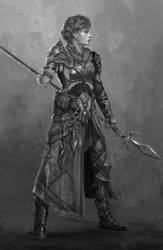 The One Arm Spear Mistress by B-Dunn