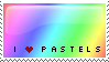 I love pastels stamp by violetsteel