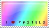I love pastels stamp