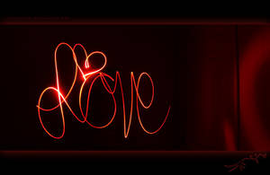 Love - Light Painting by violetsteel