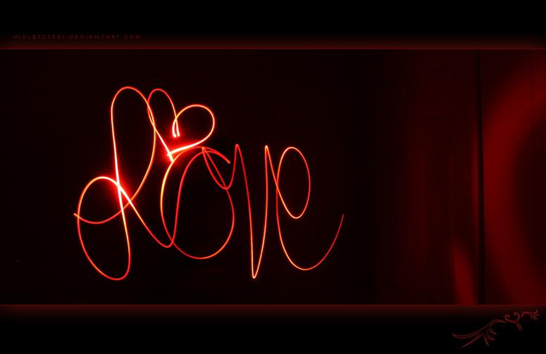 Love - Light Painting