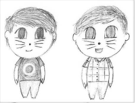 Chibi Dan and Phil
