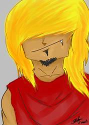 digital painting emo guy