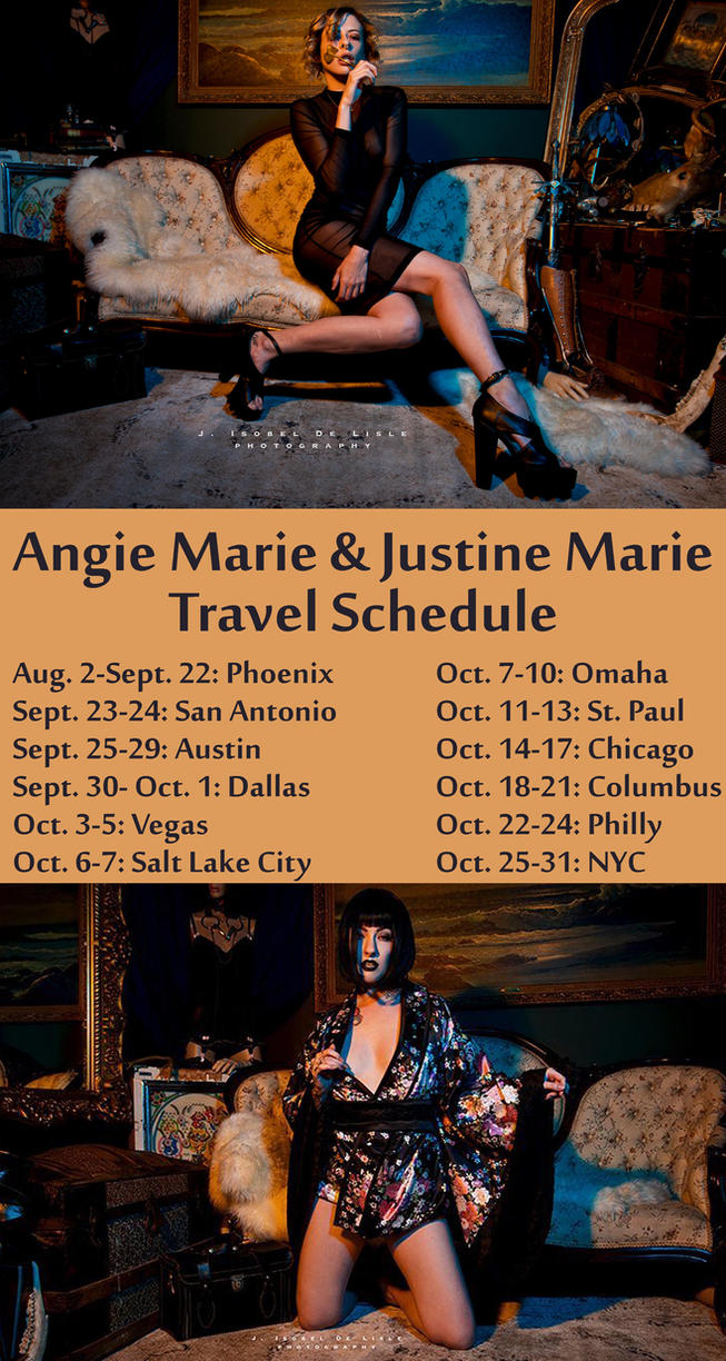 Tour Schedule by AngieMarieDreams