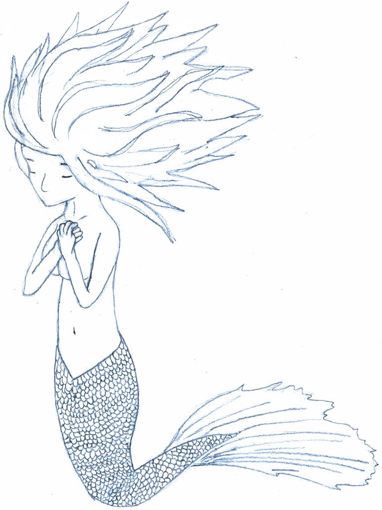 Mermaid by ~bonanzajellybee on deviantART | Fantasy ... |Mermaid Line Drawing