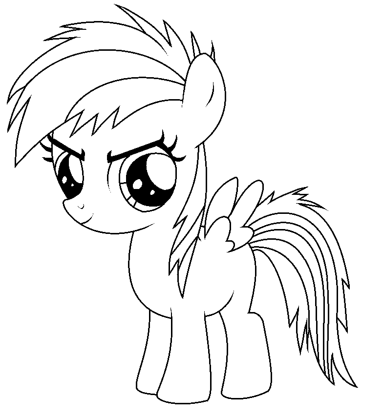 Image Gallery Of Baby Rainbow Dash Coloring Page