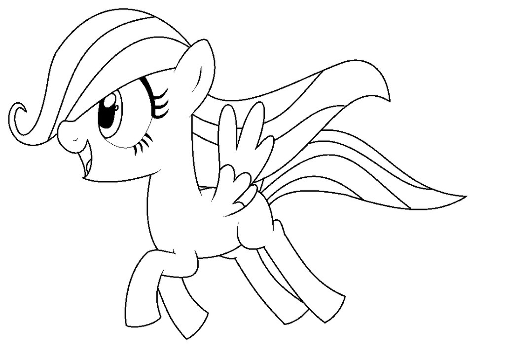 My Little Pony Coloring Pages Fluttershy Filly