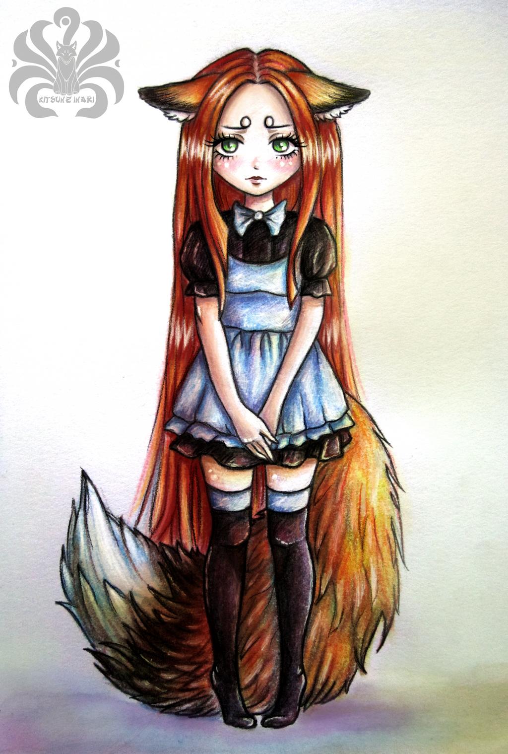 Грустная девушка аниме арт 6