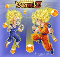 Vegeta-Chan e Goku-Kun by rosan-mate