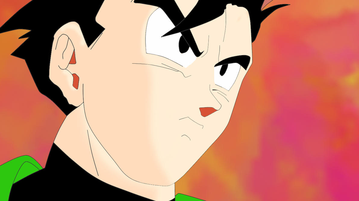 Gohan Finish(With Background) by BradBaby199x