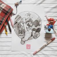 Inktober D8: Super Mario by kuma-panda