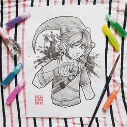 Inktober D18: Legend of Zelda by kuma-panda