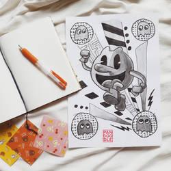 Inktober D26: Pacman by kuma-panda