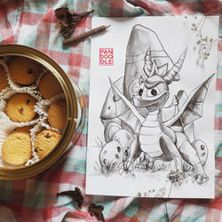 Inktober D29: Spyro by kuma-panda