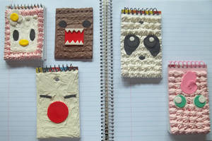 Deco-Character Notebooks of kewtness by fuuandmomo