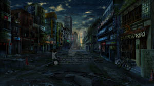 Abandoned Japan Street Night Vers