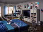 Visual Novel Background-Bedroom