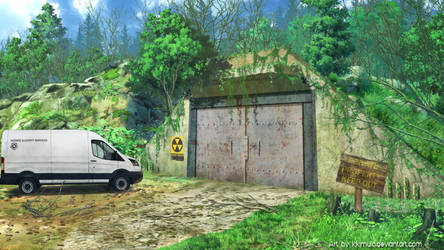 Visual Novel Background- Bunker