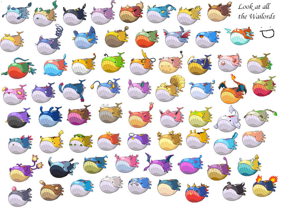 Wailord Sprites by  Wailord Sprite