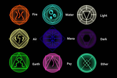 Elemental Glyphs by TheCursed54