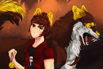 The wolf that lives inside you + SpeedPaint by Kiiroi-sama