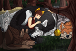 Sleeping with the wolves + Speedpaint by Kiiroi-sama