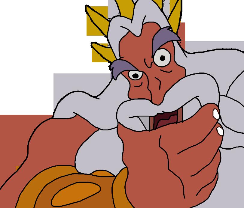 King Triton_'Ya don't say'_reaction face by SirSkullReed