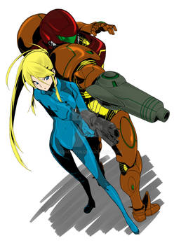 Zero Suit Samus And Varia Suit