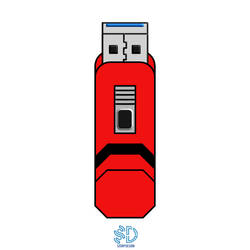 Usb Vector Color by scorpdesigner