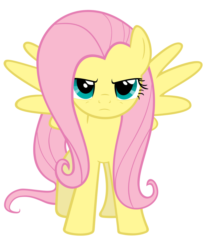 Serious Fluttershy by ExiBrony on DeviantArt