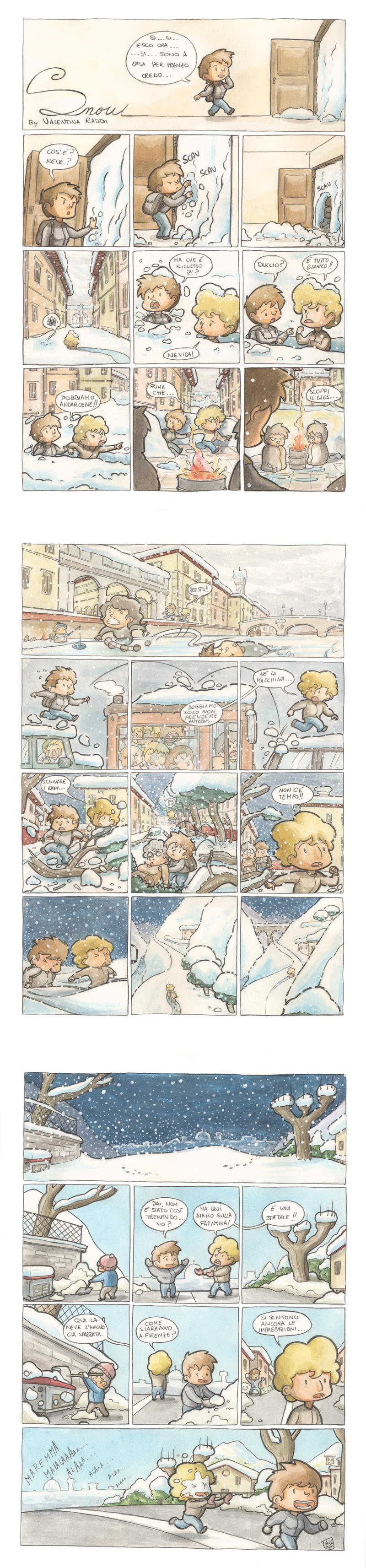La neve a Firenze by Gyrard