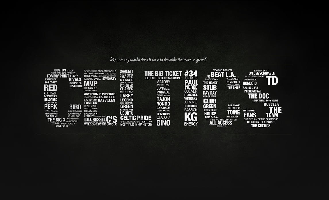 Celtics - Typography - Light by karimbalaa