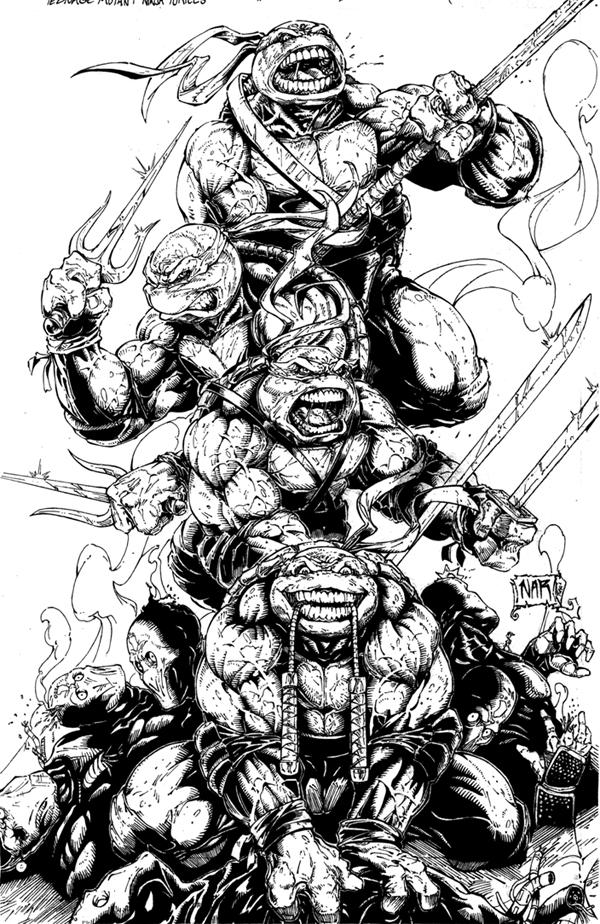 Line Art Ninja Turtles : Teenage mutant ninja turtles by theinkmieser on deviantart