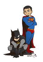 superman batman by metope87