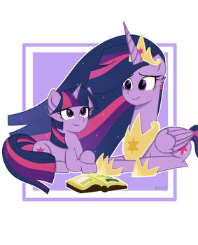 Princess Twilight watching Twilight Sparkle