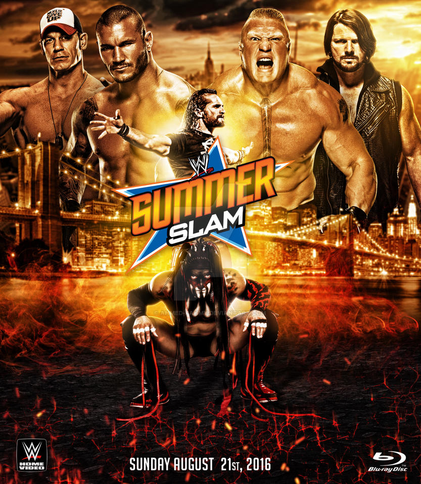 WWE Summer Slam 2016 Custom Poster By Ahmed-Fahmy On