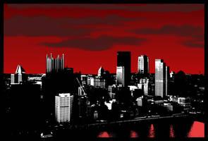 Pittsburgh Skyline by blameworthytragedies