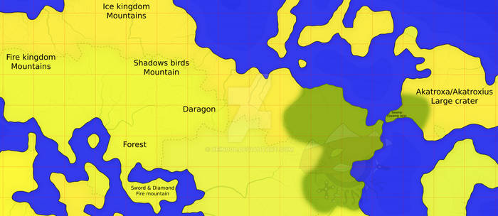 Daragon - Hybridixus world map (WIP 1)