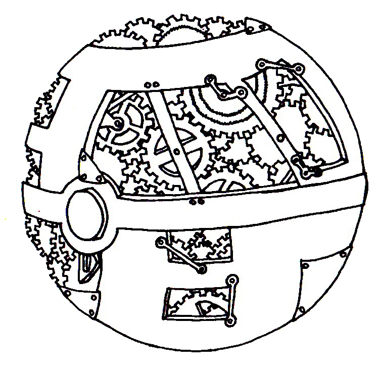 pokeball coloring pages - steampunk pokeball by looja on deviantart